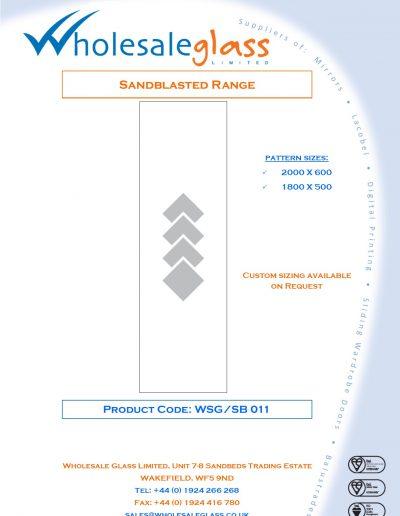 Designs on Letterheads Sandblast Range WSG 12