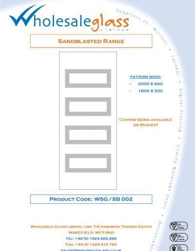 Designs on Letterheads Sandblast Range WSG 3