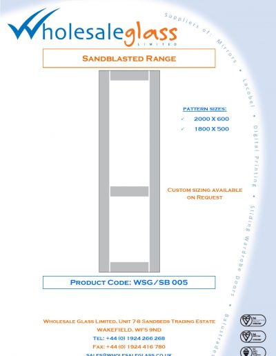 Designs on Letterheads Sandblast Range WSG 6