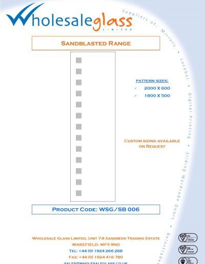 Designs on Letterheads Sandblast Range WSG 7