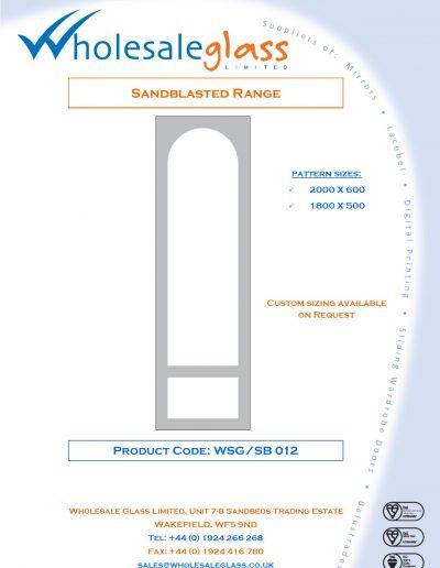Designs on Letterheads Sandblast Range WSG 13