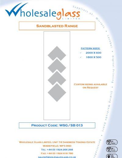 Designs on Letterheads Sandblast Range WSG 14