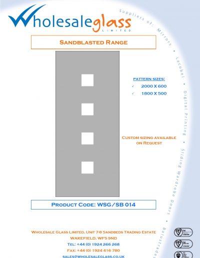 Designs on Letterheads Sandblast Range WSG 15