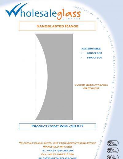 Designs on Letterheads Sandblast Range WSG 18