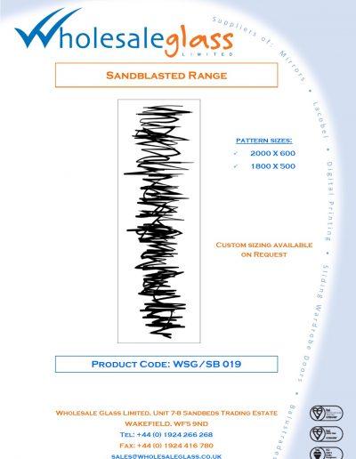 Designs on Letterheads Sandblast Range WSG 20