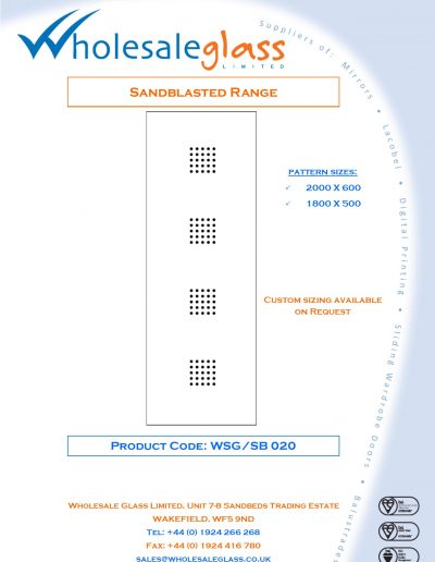 Designs on Letterheads Sandblast Range WSG 21