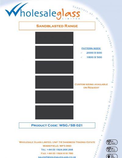 Designs on Letterheads Sandblast Range WSG 22