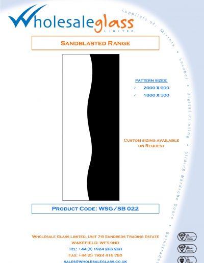 Designs on Letterheads Sandblast Range WSG 23