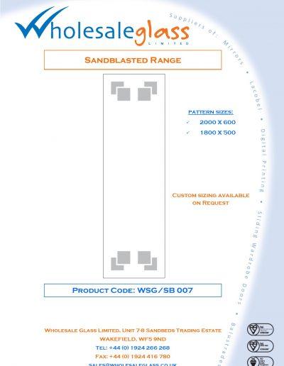 Designs on Letterheads Sandblast Range WSG 8