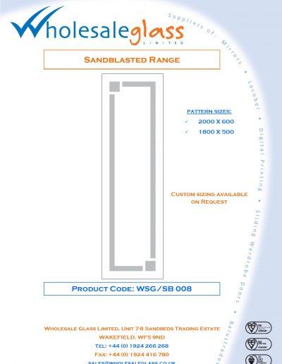 Designs on Letterheads Sandblast Range WSG 9
